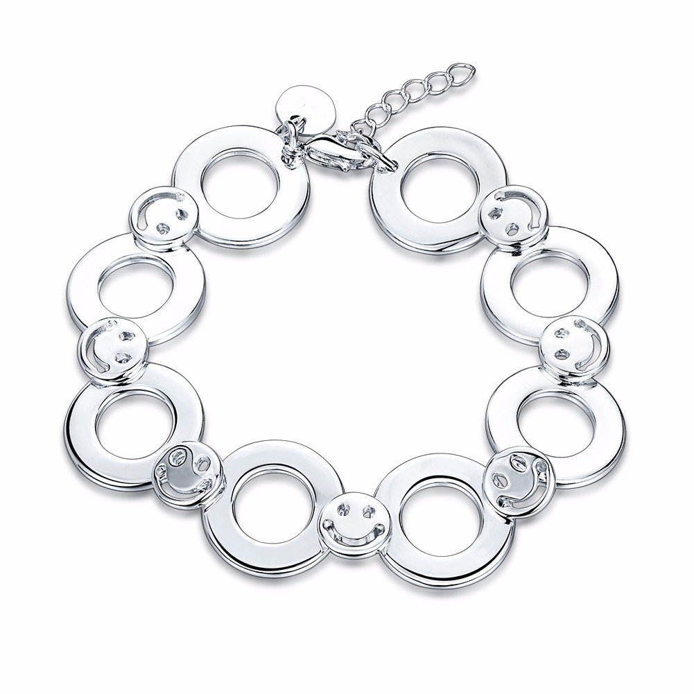 YUEYIN® Hollow Circle with Happy Face Simple Bracelet for Women Gift