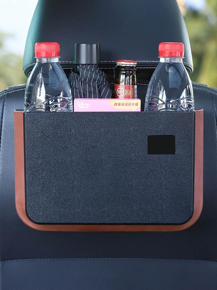 Plegable Coche Almacenamiento Organizador Impermeable Basura para colgar en el respaldo del asiento con mesa pequeña Cómodo almacenamiento automático Bolsa