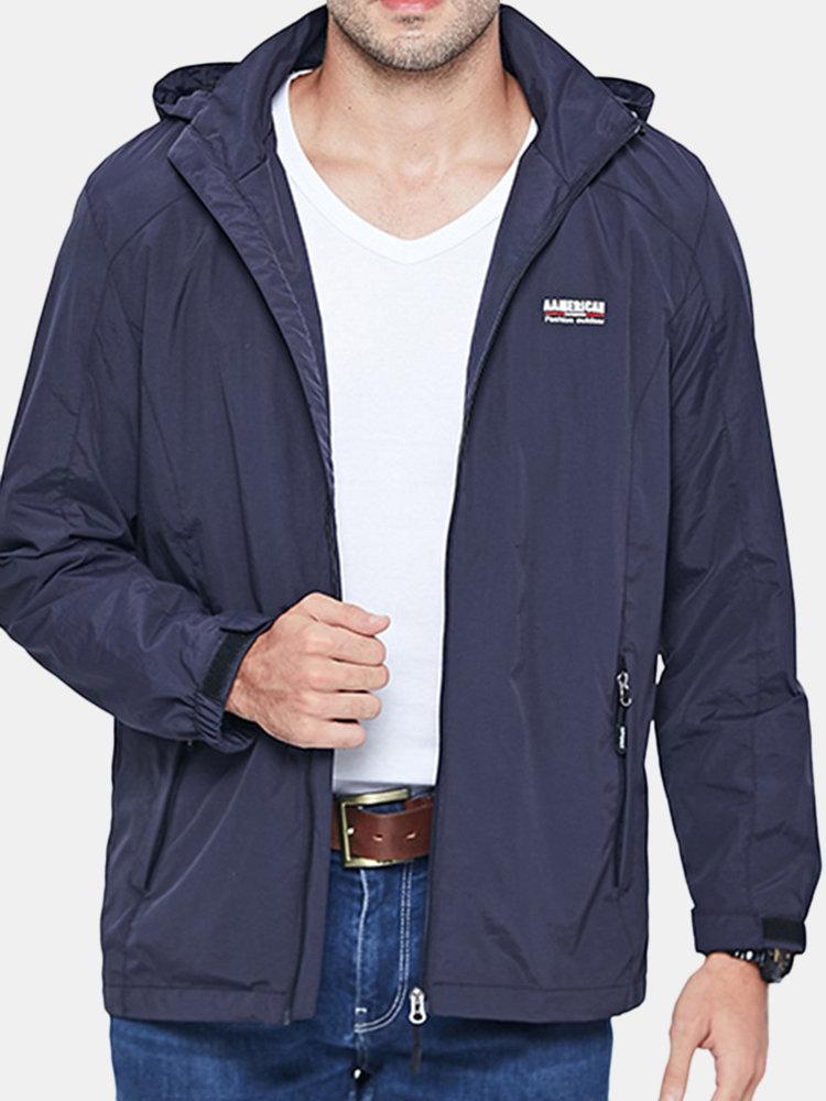 Mens Detachable Hooded Outdoor Coat Sports Thin Sunscreen Breathable Climbing Jackets