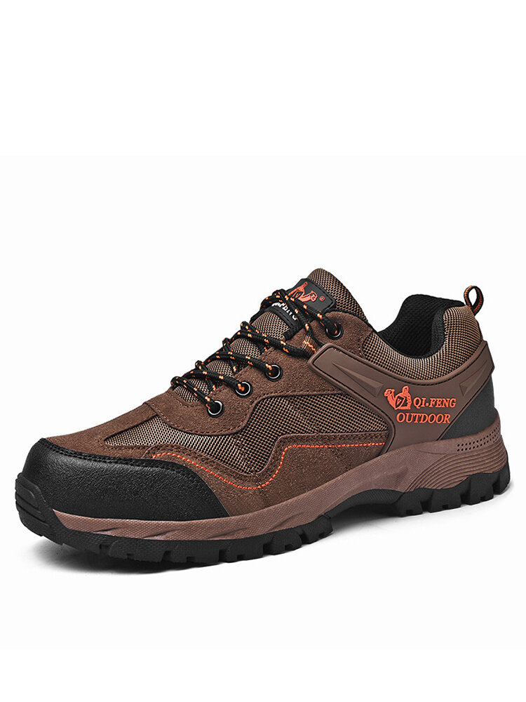Men Outdoor Breathable Non Slip Soft Casual Hiking Shoes