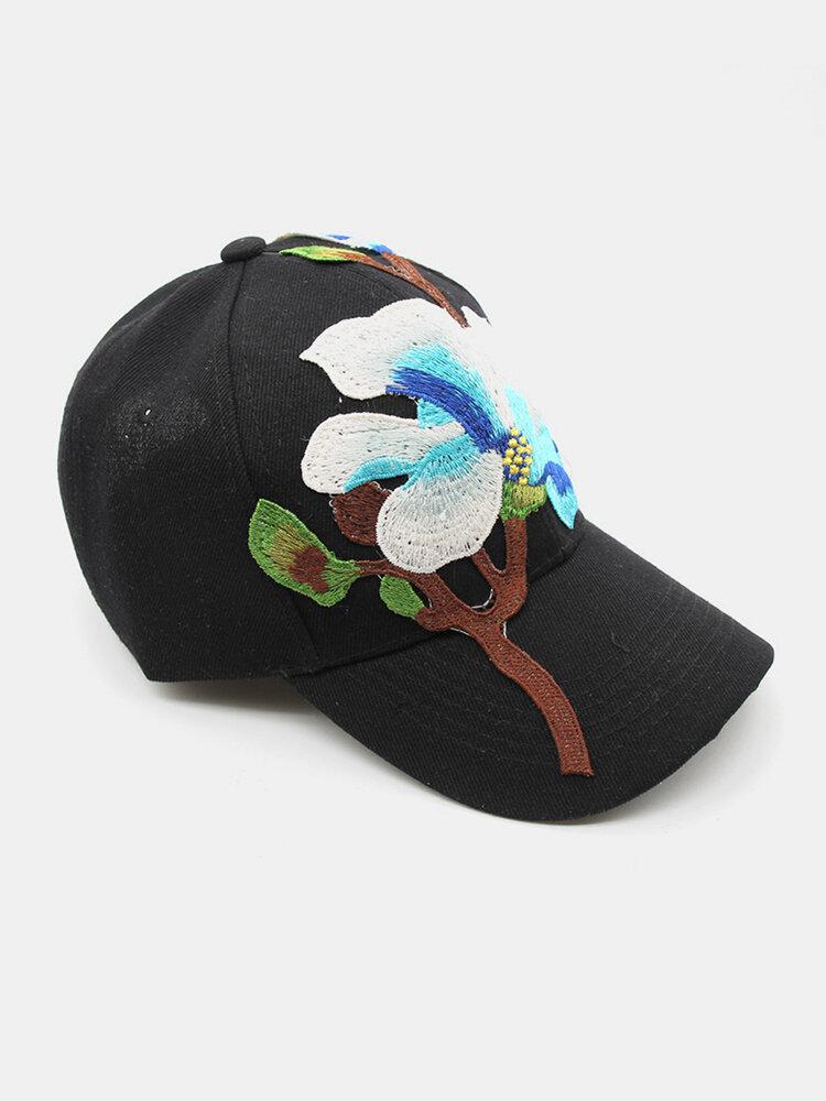 Embroidery Baseball Cap Female Embroidery Casual Sun Hat Fashion Sunscreen