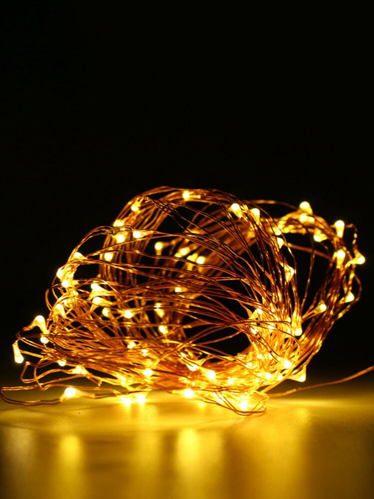 10M 100 LED Copper Wire Fairy String Light Waterproof Christmas Party Decor Green Shell