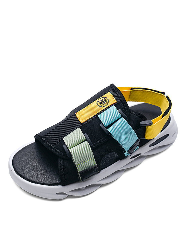 Men Casual Soft Slip-on Opened Toe Thick Bottom Two Ways Sandals