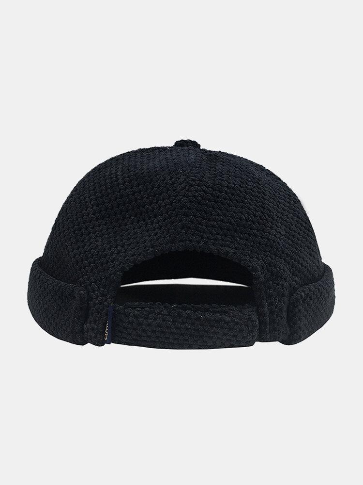 Men & Women Cotton Street Trend Fashion Casual British Style Brimless Landlord Hat Beanie Skull Hat