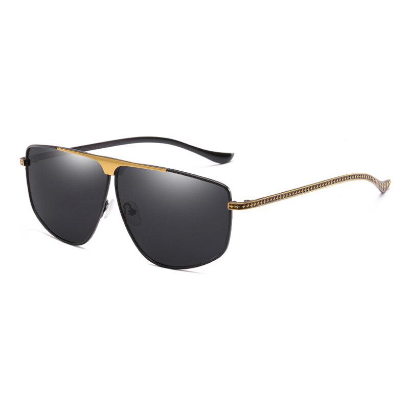 Homens Vogue HD Óculos De Sol De Metal Polarizado HD UV400 Vogue Viagem Ao Ar Livre Óculos De Condução De Equitação De Viagem