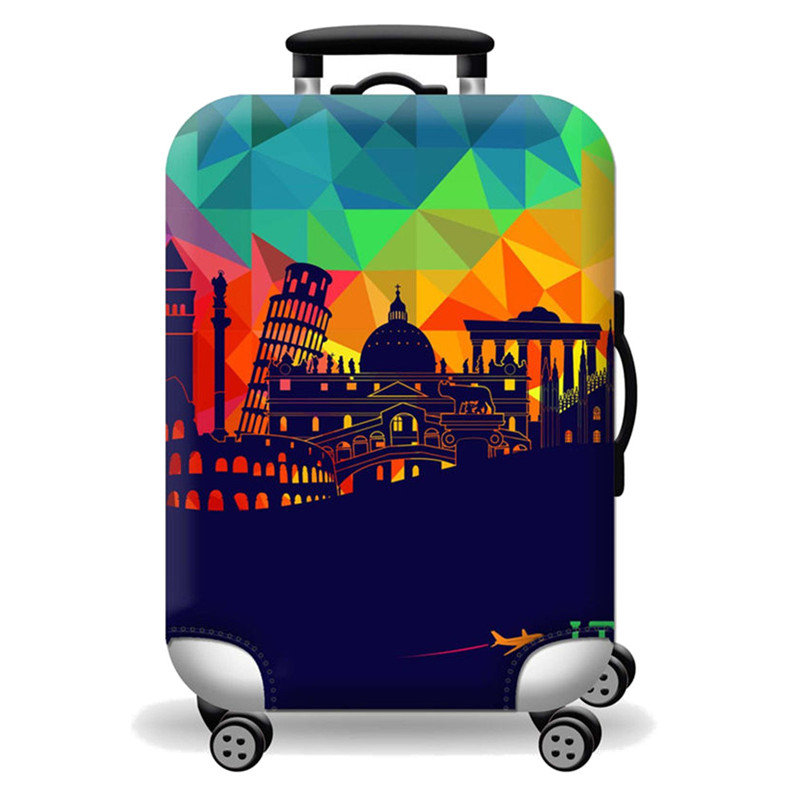 Elastic Travel Luggage Cover Summer Time Living Is Easy Suitcase Protector for 18-20 Inch Luggage
