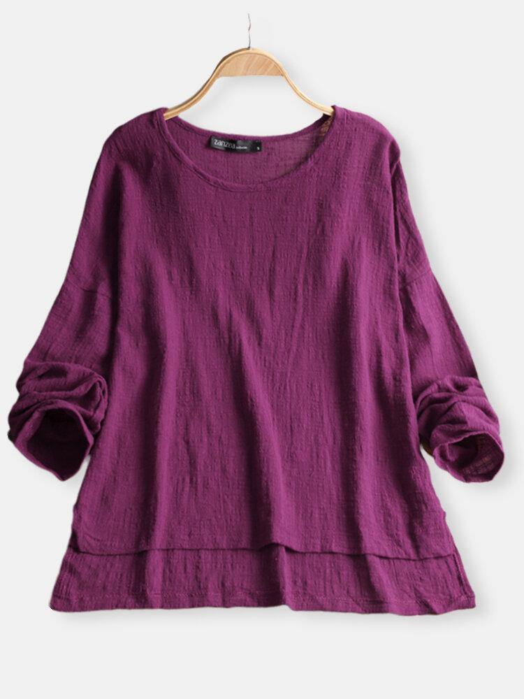 Langarmshirt mit reiner Farbe