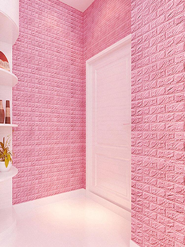3D Wall Stickers PE Foam Safty Home Decor DIY Wallpaper Brick Living Room Kids Bedroom Sticker