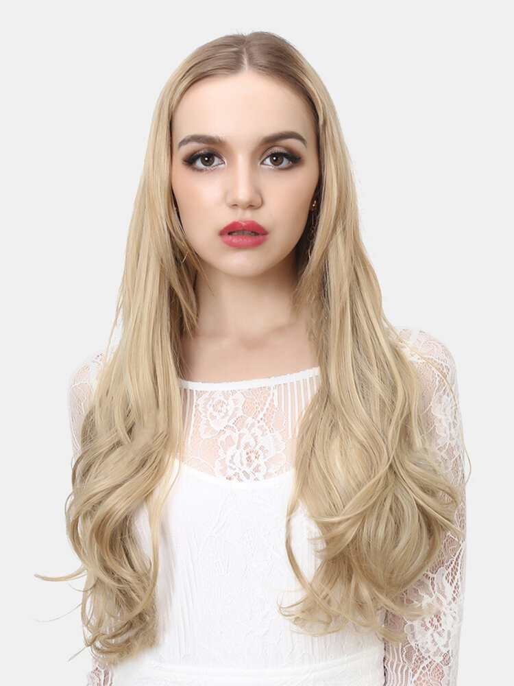 40 Colors Fishing Line Long Curly False Hair Pieces No-Trace Hair Extensions