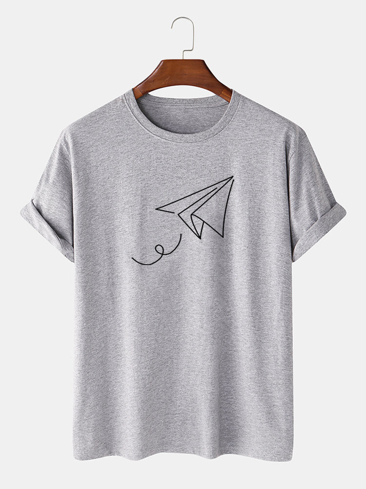 Mens Letter Printed Short Sleeve Light Casual T-shirts