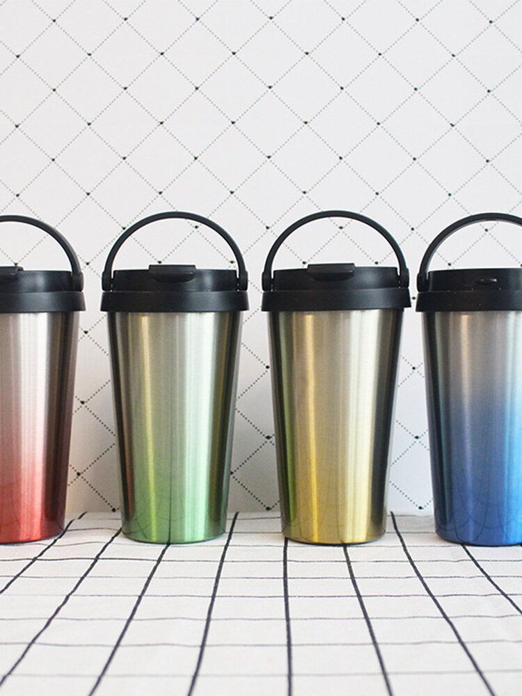500ML Stainless Steel Leakproof Mug Insulated Thermal Travel Coffee Mug Cup Flask