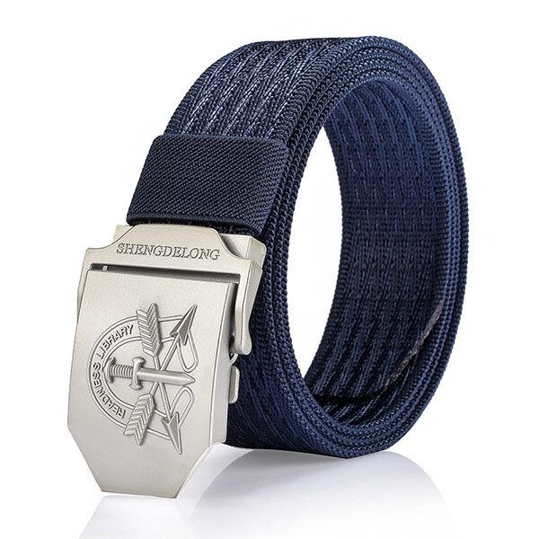 125CM Men Casual Nylon Canvas Belt Breathable Soft Smooth Buckle Denim Belt