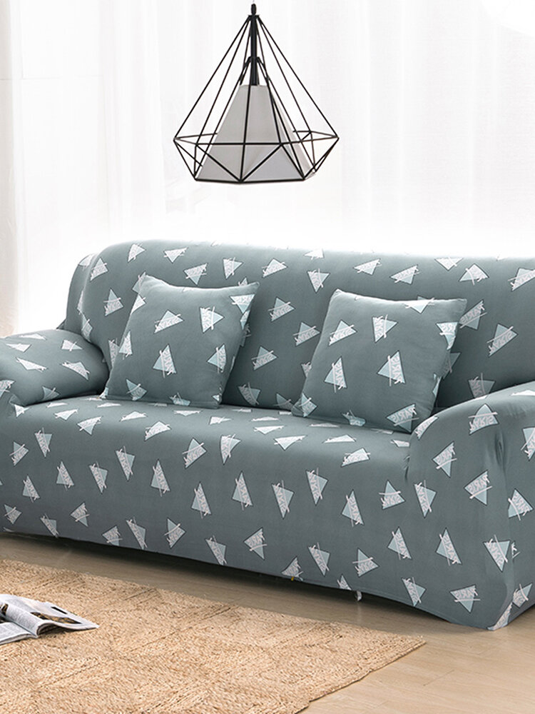 Green Triangle 1/2/3/4 Seater Home Soft Elastic Sofa Cover Easy Stretch Slipcover Protector Couch