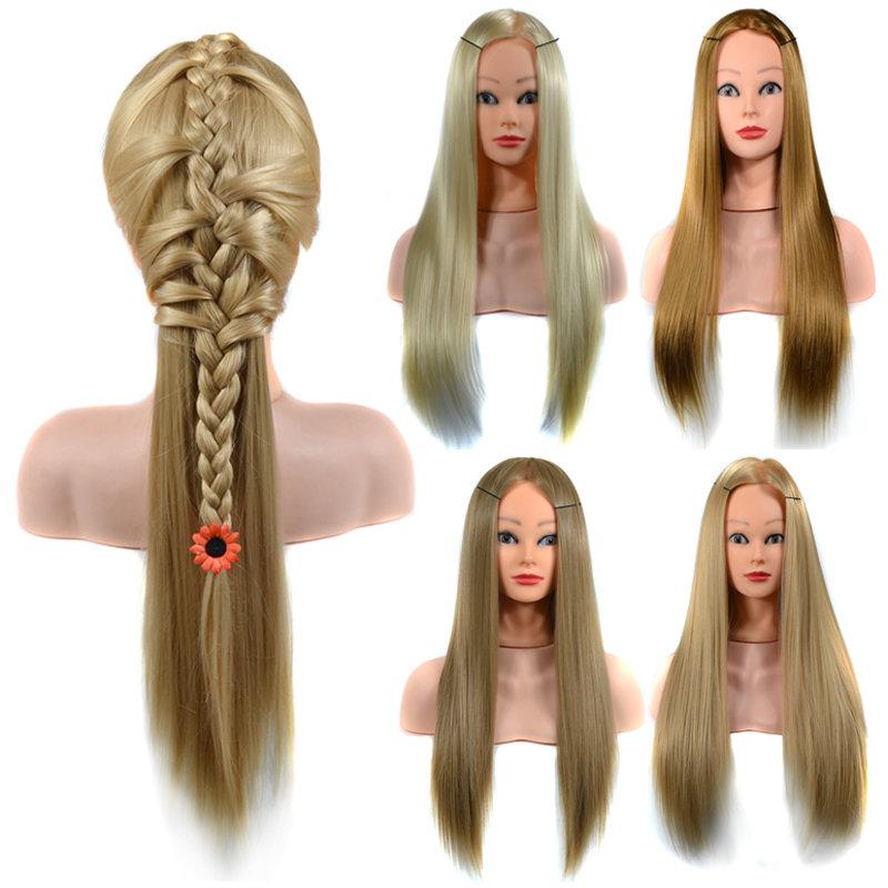 الشعر التدريب المعرضة الممارسة رئيس ارتفاع درجة الحرارة الألياف صالون نموذج مع المشبك مضفر الشعر