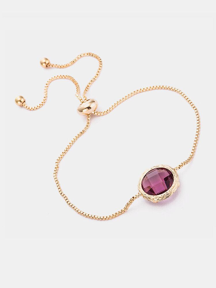 Bohemian Simple Bracelet Round Crystal Alloy Women Bracelet