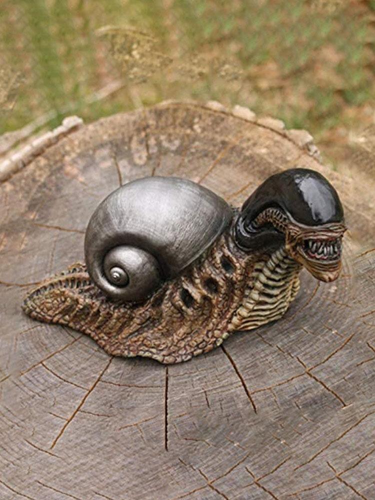 1PC Mutant Snail Resin Crafts Ornaments Garden Decoration