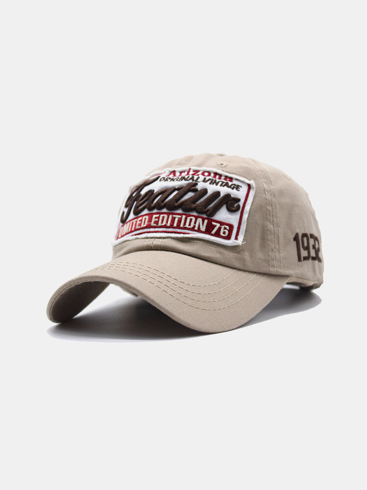 Unisex Cotton Letter Embroidery Patch All-match Sunscreen Baseball Cap