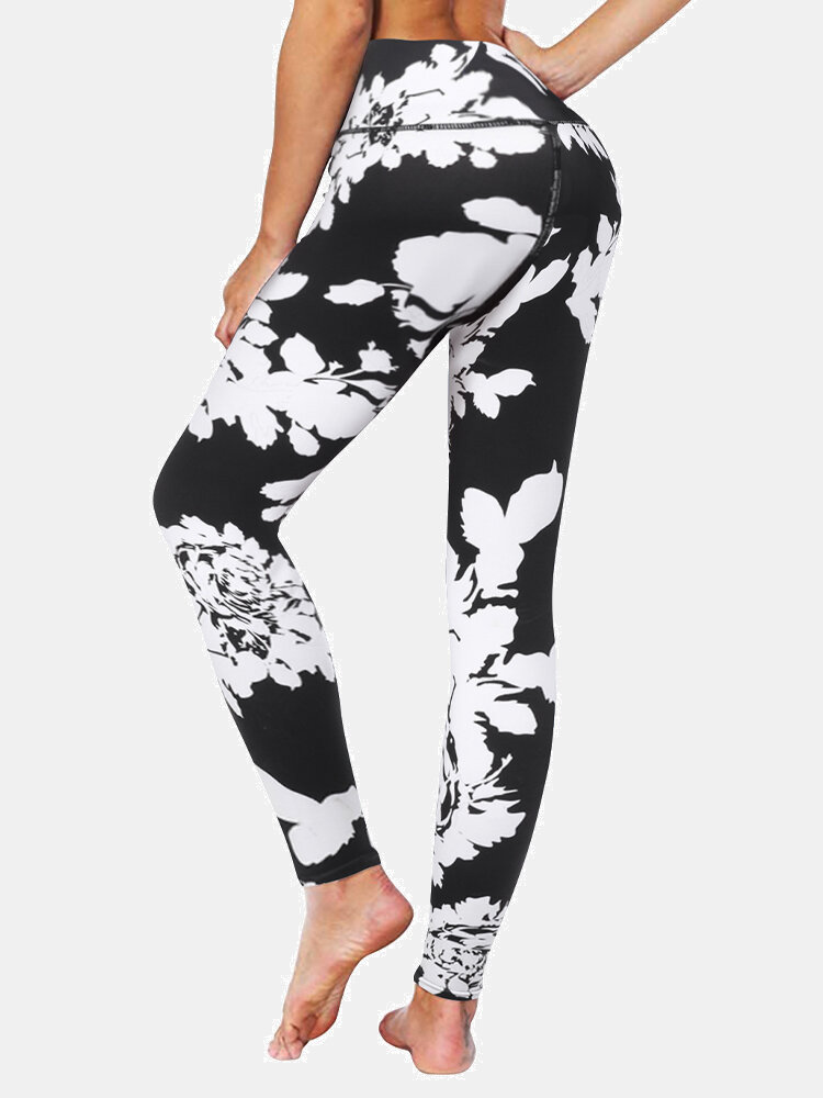 Floral Print Long Sport Yoga Famous Tiktok Leggings for Women