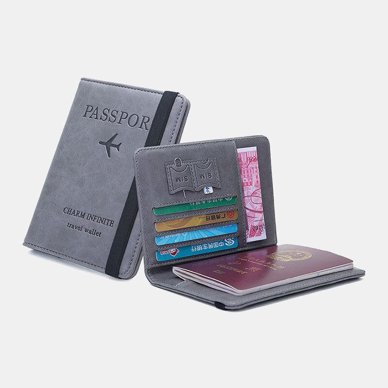 RFID многофункциональная дорожная обложка Чехол слоты для карт хранилище для паспортов Сумка кошелек