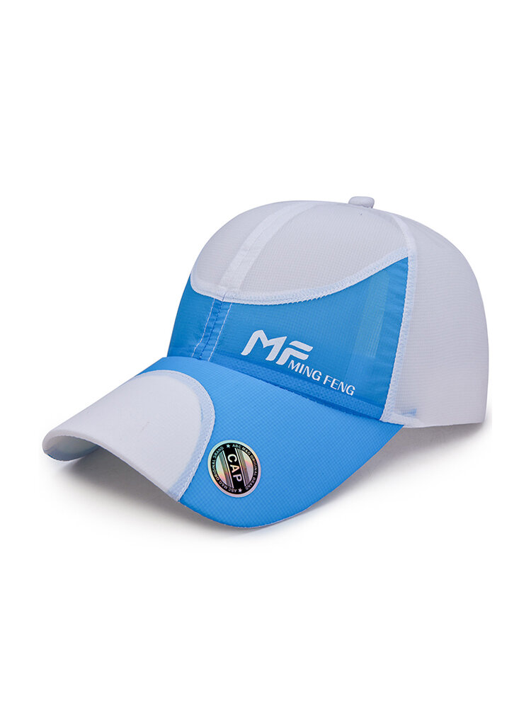 Men Women Ultra-thin Breathable Quick-drying Baseball Cap Outdoor Double Color Casual Hat