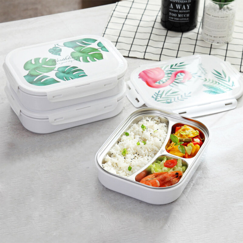0a4d07dd07d0 Microwavable Lunch Box 304 Stainless Steel Bento Box With Compartments  School Office Food Container