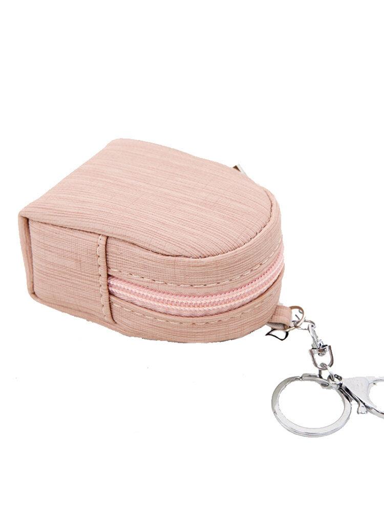女性の韓国の防水ジッパーキーバッグ固体ミニ収納バッグPUコインケースバッグ