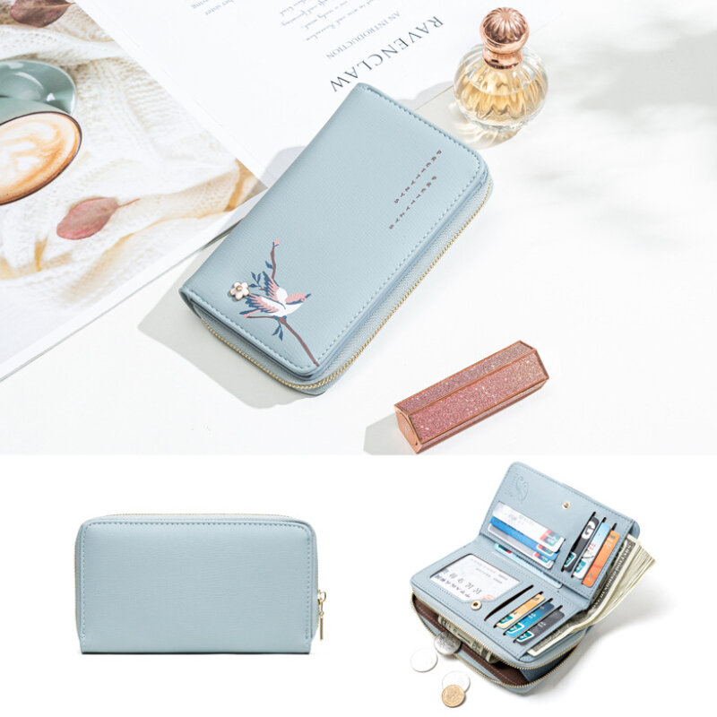 Women PU Leather Ethnic Multi-card Slots Photo Card Phone Bag Money Clip Wallet Coin Purse (SKUG05330) photo