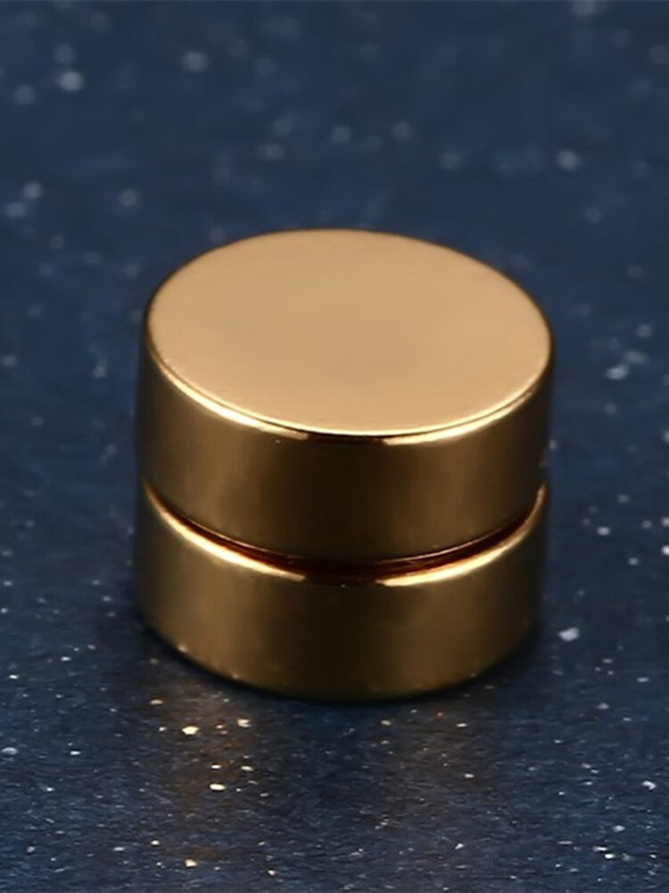 Punk Magnetic No Pierced Mens Earrings Stainless Steel Round Clip On Earrings for Men Women