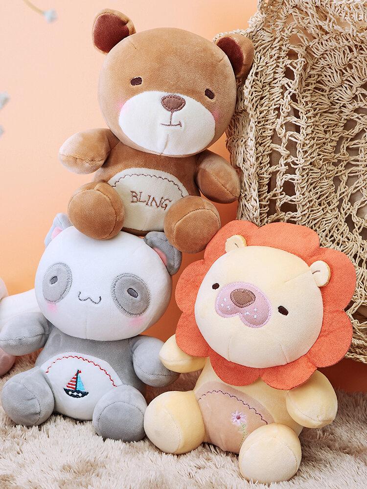 Panda Lion Bear Stuffed Plush Toy Cotton Christmas Gifts