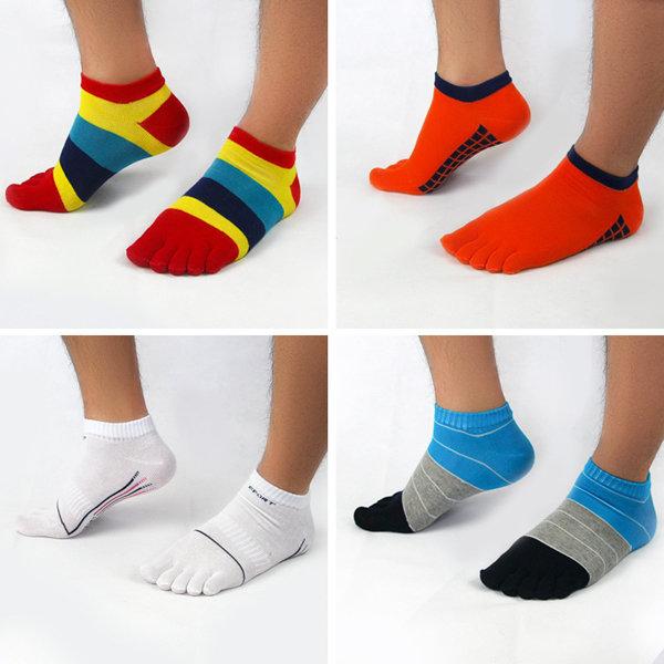 Men Cotton Separated Toes Socks Non-Slip Soft Thin Short Tubes Sock