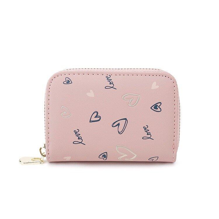 Women Heart-shaped Coin Purse Card Holder Wallet (SKUB06882) photo