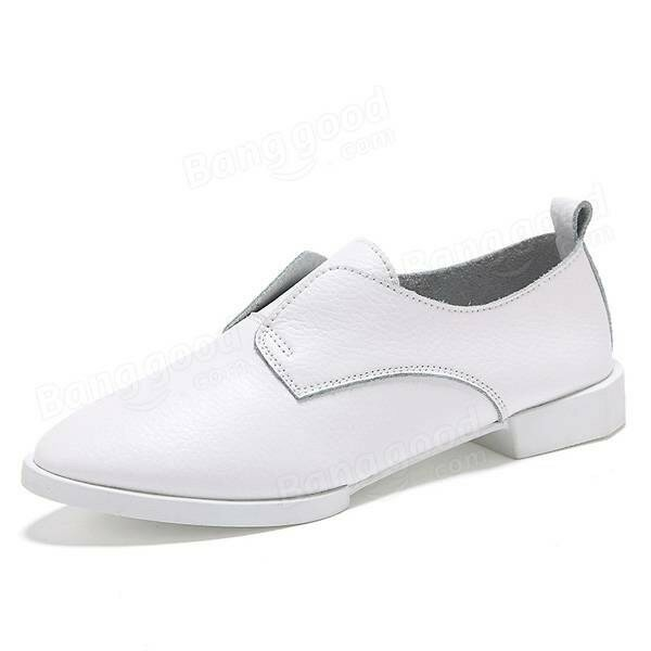 Women Casual Pure Color Flat Slip On Shoes
