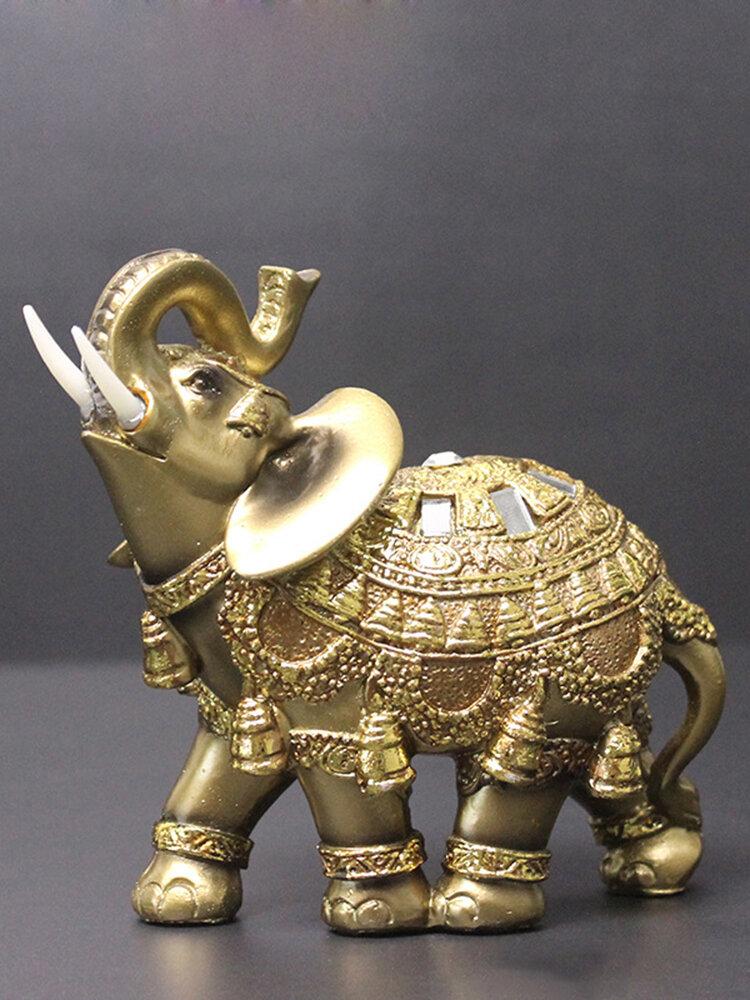 الفيل أنيقة تمثال جذع الفيل تمثال الحرف الحلي الرئيسية مكتب ديكور سطح المكتب هدية