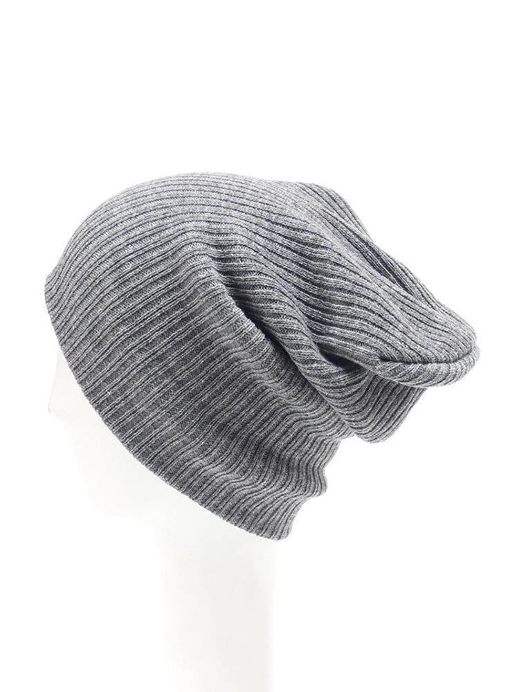 Winter Men Women Knitted Warm Skullies Beanie Hats Casual Sport Breathable Elasticity Hat