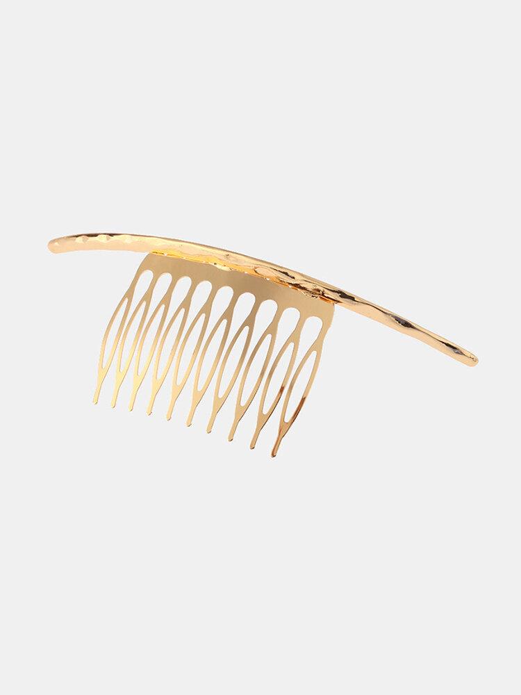 Accessoires d'épingle à cheveux de mode Bump Surface décorative argent or épingles à cheveux bijoux doux pour les femmes