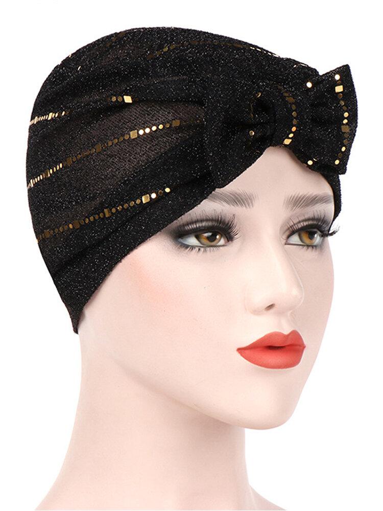 قبعات نسائية مطرزة بالترتر قبعات مرنة غير رسمية عقال إسلامي