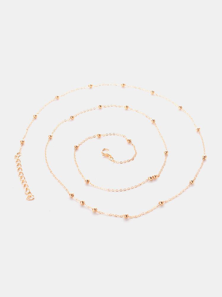 Chaîne de taille de perle d'argent d'or à la mode Chaîne de corps en métal sexy pour les femmes