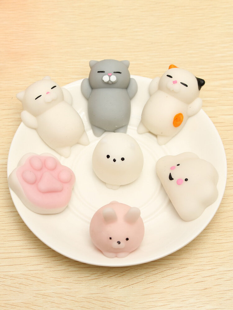 Mochi Cat Squishy Squeeze Cute Healing Toy Kawaii Collection Stress Reliever Gift Decor