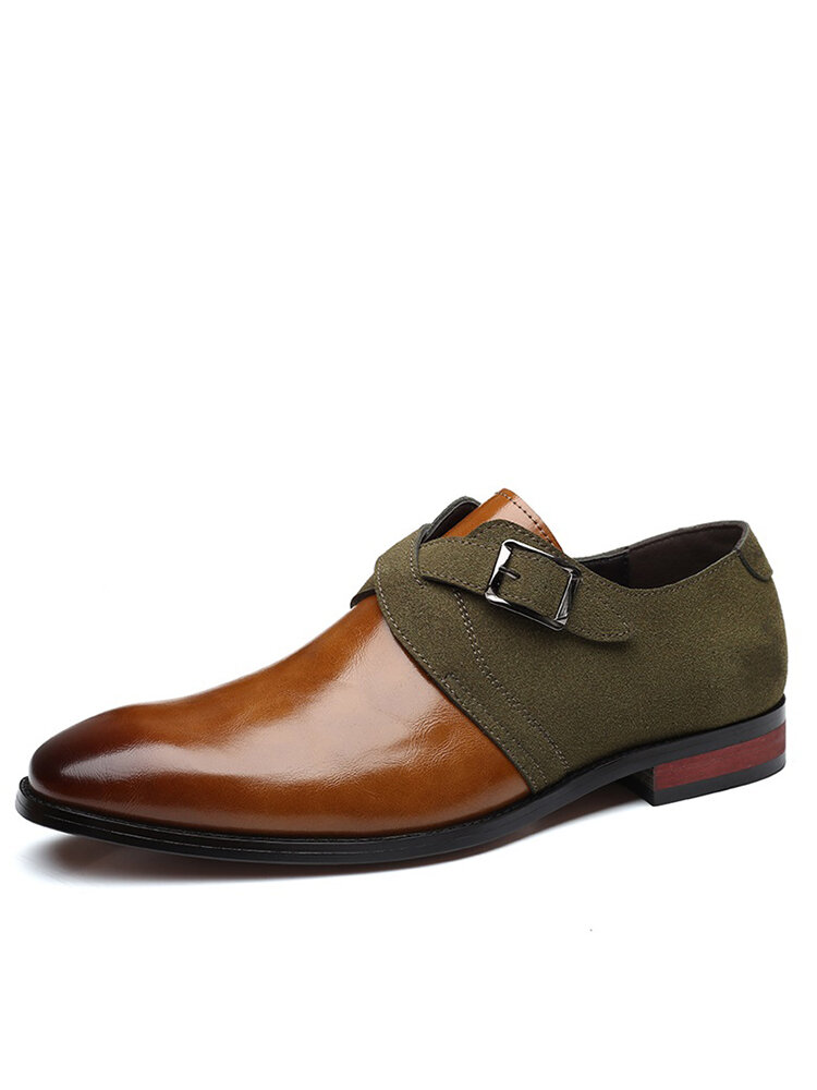 Men Stylish Colorblock Splicing Wearable Casual Formal Dress Shoes