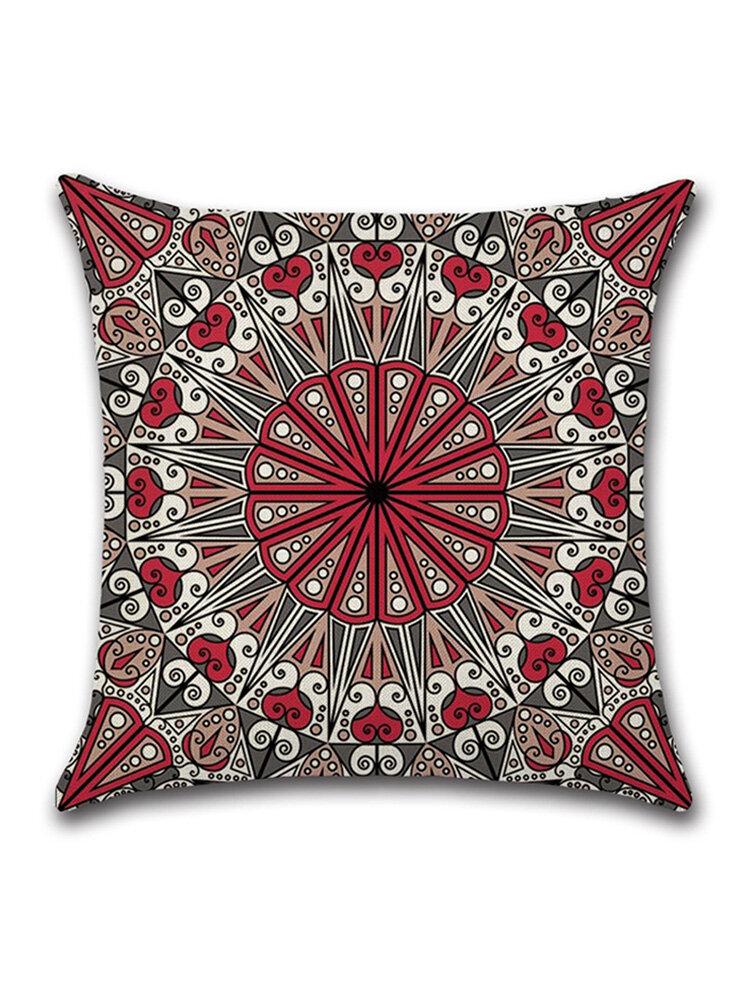 <US Instock> Mandala Indian Bohemian Cotton Linen Cushion Cover Home Decor Square Pillowcase