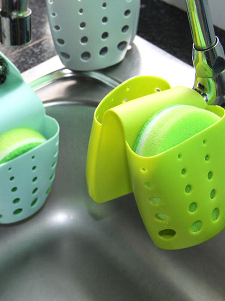 Kitchen Sink Sponge Hanging Bags Saddle Debris Drainage Basket Storage Sponge Rack Holder