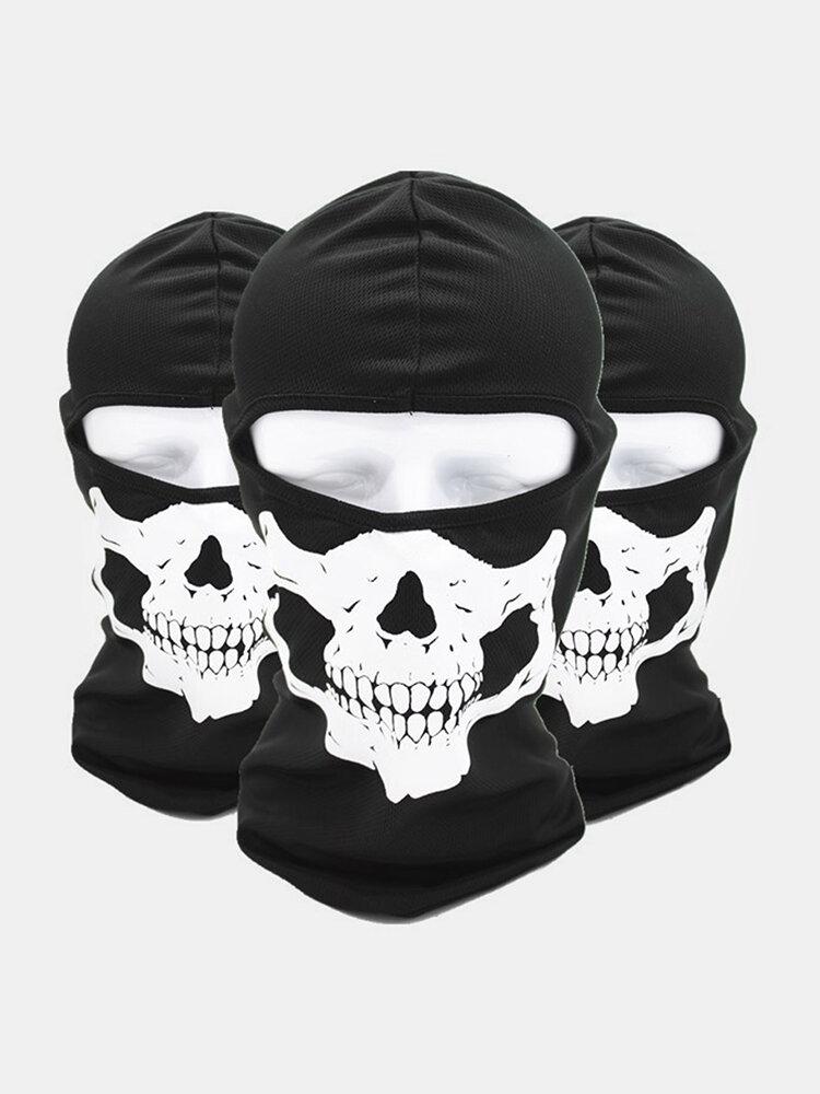 Halloween Outdoor CS Head Cover Skull Pattern Mask
