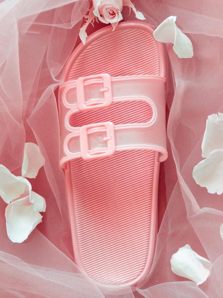 Mujer Home Comfy Antideslizante Soft Casual Cuarto de baño zapatillas