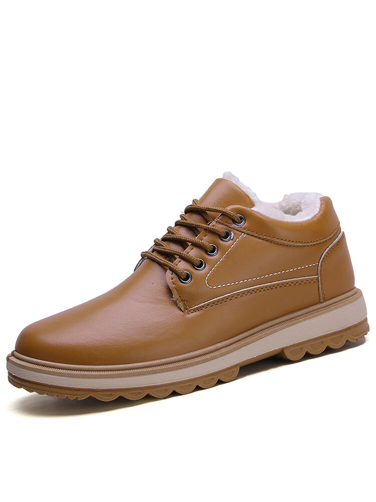 Men Comfy Wide Fit Round Toe Warm Casual  Ankle Boots