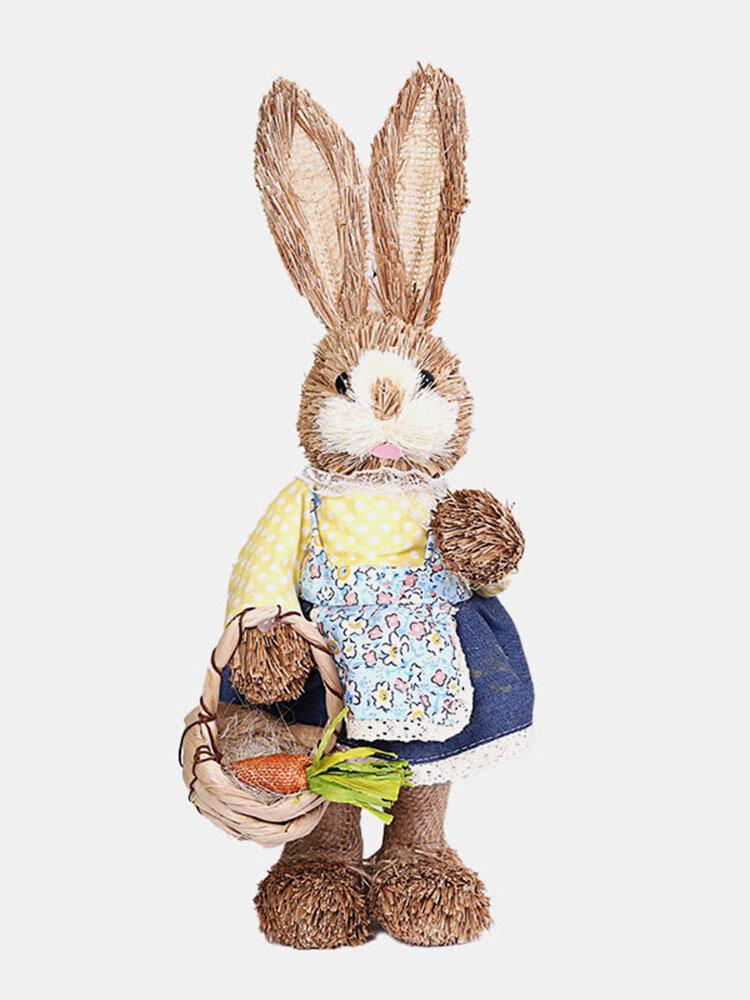 イースターシミュレーションウサギホームガーデンウサギの装飾創造的な漫画の写真