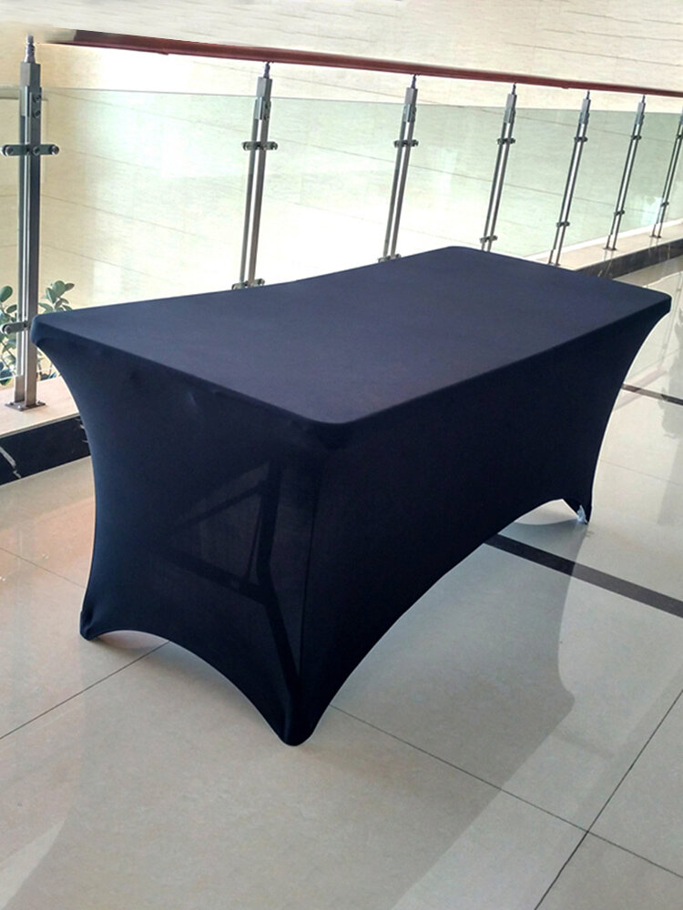 <US Instock>Cocktail High Stretch Spandex Wedding Hotel Birthday Table Cover Buffet Cloth Table Set Tablecloth Decoration