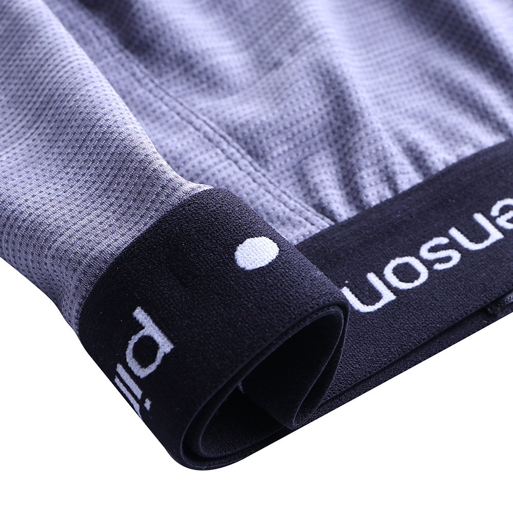 Fashion Mens Breathable Well-absorbent Stretch Film Widen Waistband Pouch U Convex Underwear Boxers