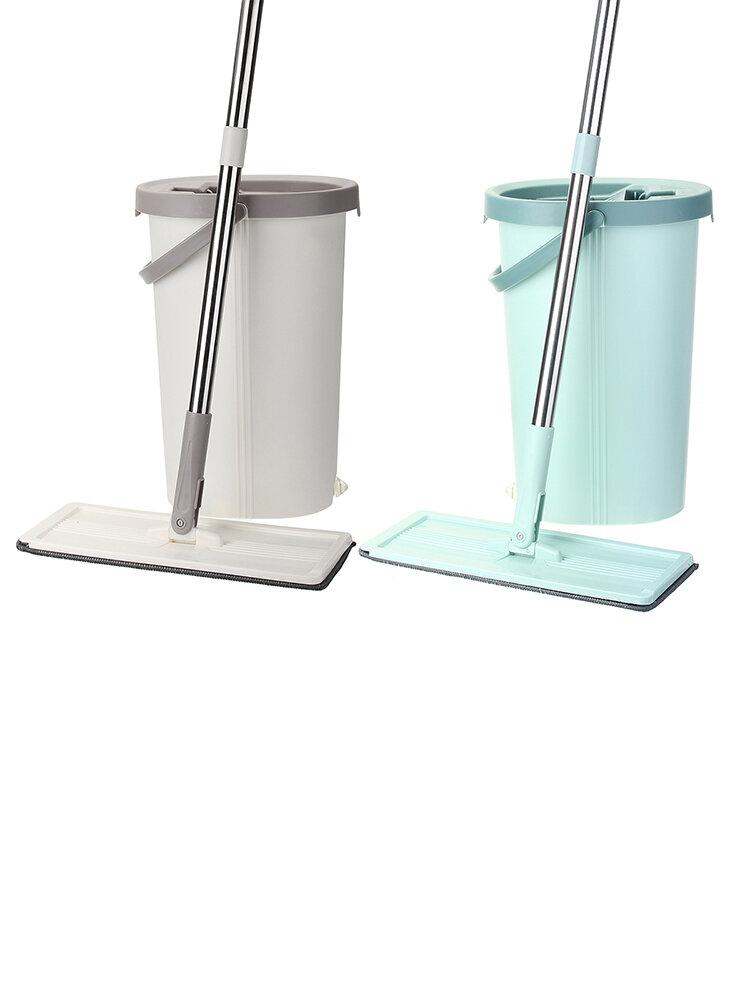 ممسحة دلو مسطحة من الألياف للتنظيف اليدوي للغسيل اليدوي الدقيق للغاية ممسحة أرضية سحرية