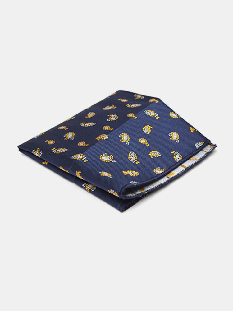 Men Pocket Square Hankerchief Korean Silk Paisley Dot Floral Hanky