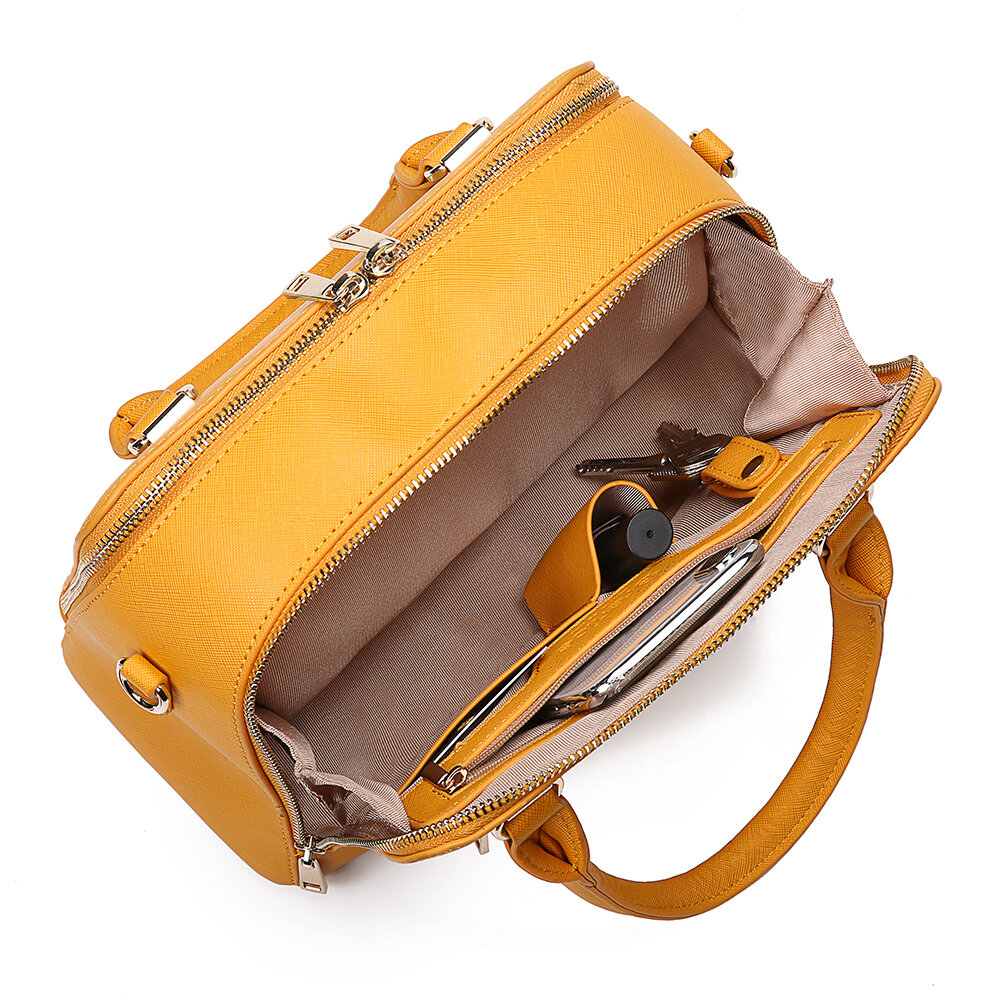 Женская двухслойная сумка через плечо с цепочкой Сумка Многофункциональная однотонная сумка